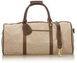Gucci Vintage Canvas Duffel Bag