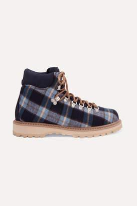 Diemme Roccia Vet Checked Canvas Ankle Boots - Blue