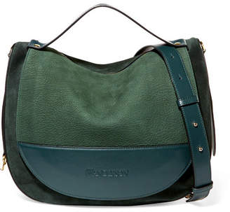 J.W.Anderson Moon Suede And Leather Shoulder Bag - Emerald