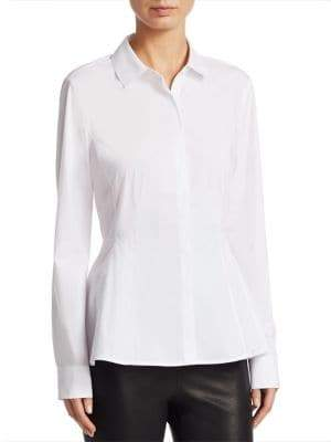 Saks Fifth Avenue COLLECTION Button-Down Peplum Shirt