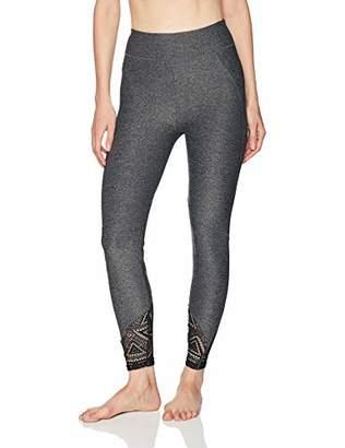 Sam Edelman Women's Grey Melange LACE Legging