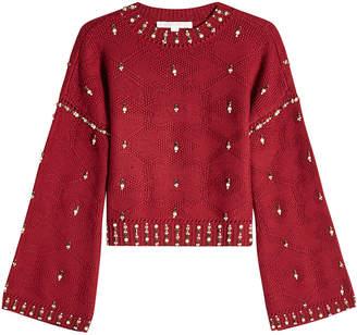 Jonathan Simkhai Embellished Wool Pullover