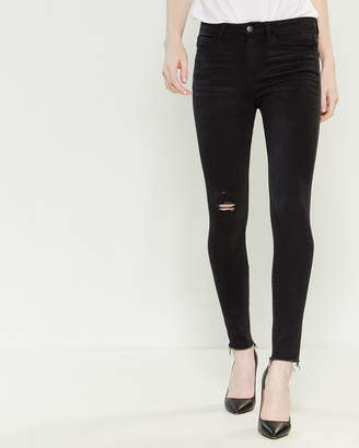 Vervet Charcoal High-Rise Ankle Skinny Jeans