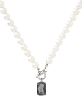 Pearl And Crystal Short Neck With Toggle Clasp TNJHW18NL116