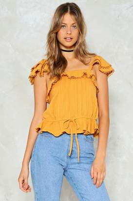 Nasty Gal Out of the Loop Ruffle Top