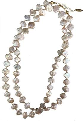 Farra - Flower Shaped Freshwater Pearls Multi-Way Necklace