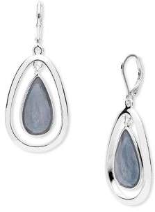 Anne Klein Mother-Of-Pearl and Crystal Drop Earrings