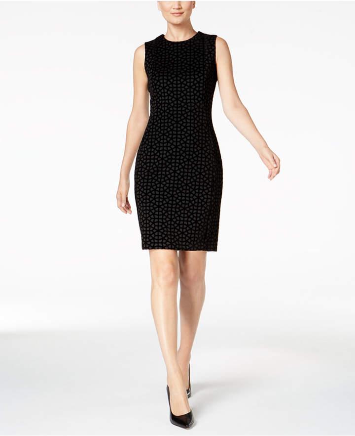 Calvin Klein Flocked Sheath Dress