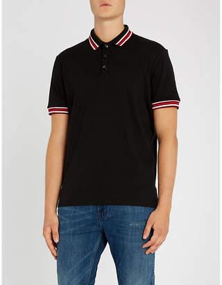 HUGO Embroidered logo cotton-pique polo shirt