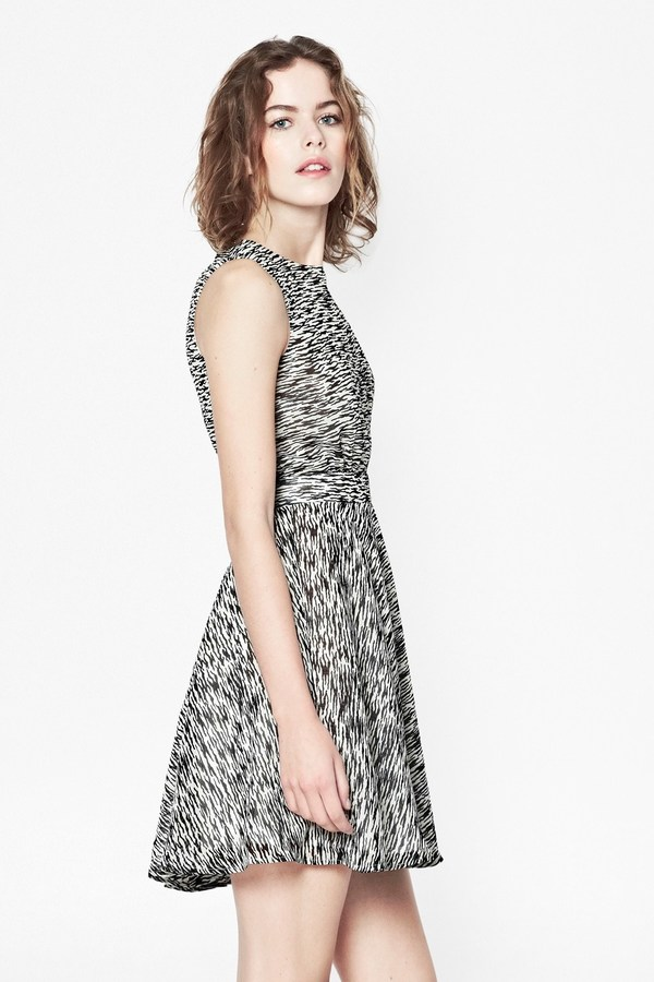 French Connection Sahara Wave Crepe Dress