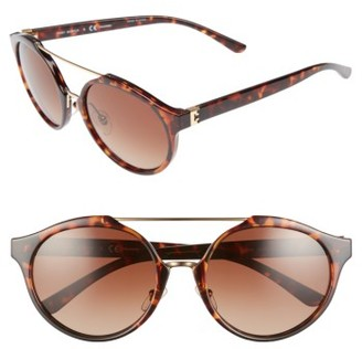 Women's Tory Burch 54Mm Polarized Sunglasses - Tortoise/ Polar