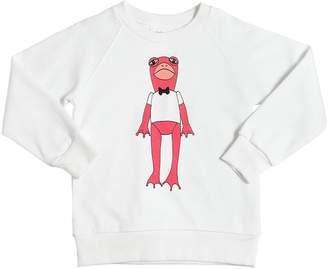 Mini Rodini Frog Print Organic Cotton Sweatshirt