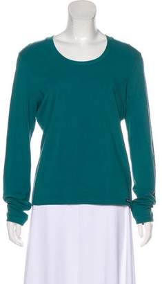 Façonnable Scoop Neck Long Sleeve Top