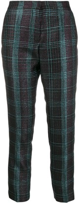 Marco De Vincenzo cropped tartan trousers