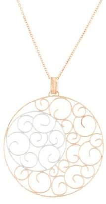 18K Filigree Pendant Necklace