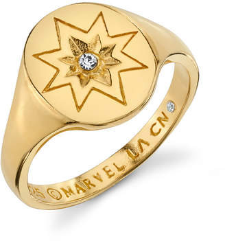 Marvel Star Signet Ring in Sterling Silver for Unwritten