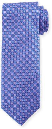 Canali Boxed Floral Silk Tie, Purple