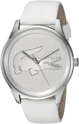 Lacoste Women's Victoria Stainless Steel Quartz Watch with Leather Strap