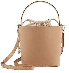 MANGO Leather bucket bag