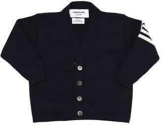 Thom Browne Cashmere Cardigan W/ Stripes