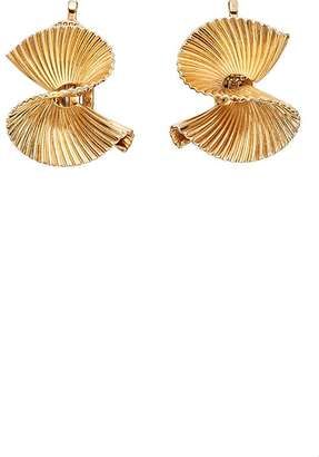 Stephanie Windsor Antiques Women's Yellow Gold S-Shaped Clip-On Earrings