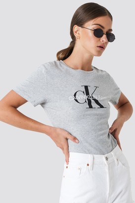 Calvin Klein Core Monogram Logo Tee Bright White