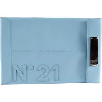 N°21 N21 Blue Leather Clutch Bag