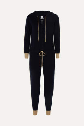Madeleine Thompson Hooded Cashmere Jumpsuit - Navy