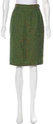 Saint Laurent Bouclé Knee-Length Skirt