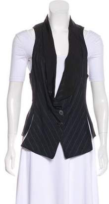 Derek Lam Striped Linen-Blend Vest