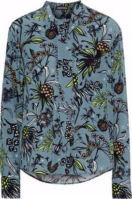 Markus Lupfer Abbie Pussy-Bow Printed Silk Crepe De Chine Blouse