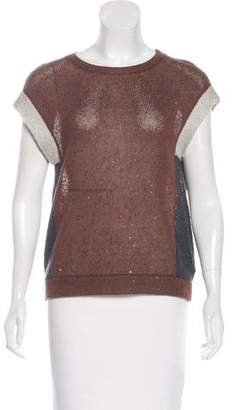 Brunello Cucinelli Linen & Silk-Blend Knit Top