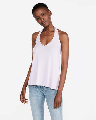 Express One Eleven V-Neck Halter Tank