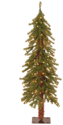 The Holiday Aisle Hickory Cedar 4' Green Artificial Christmas Tree with 100 Clear Lights