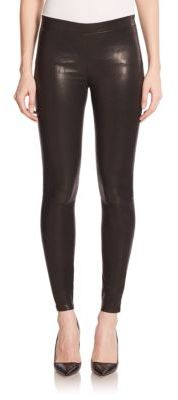 J BRAND Edita Lambskin Leather Leggings $948 thestylecure.com