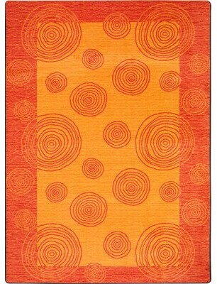 The Conestoga Trading Co. Hand-Tufted Orange Area Rug The Conestoga Trading Co.