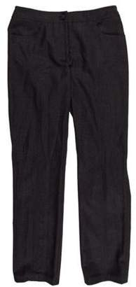 Chanel Mid-Rise Wool Pants Grey Mid-Rise Wool Pants