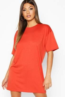 boohoo Oversized Crew Neck T-Shirt Dress