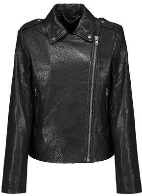 Muu Baa Muubaa Harley Paneled Smooth And Textured-Leather Biker Jacket