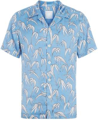 Sandro Palm Print Short-Sleeve Shirt