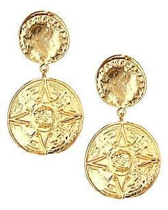 Nest 22K Yellow Goldplated Coin Drop Earrings
