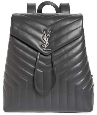 Saint Laurent Medium Loulou Calfskin Leather Backpack
