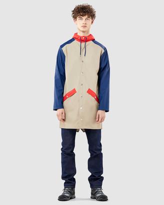 Rains Colour Block Long Jacket