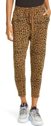 Nili Lotan Nolan Leopard Print Jogger Sweatpants