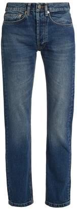 Raey Clean Hemmed Cigarette Leg Jeans - Womens - Dark Blue