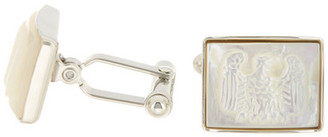 David Donahue Sterling Silver Mother Of Pearl Eagle Cuff Links $195 thestylecure.com