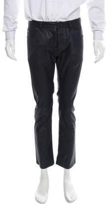 Calvin Klein Collection Coated Cropped Jeans