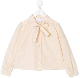 Señorita Lemoniez ribbon bow embellished shirt
