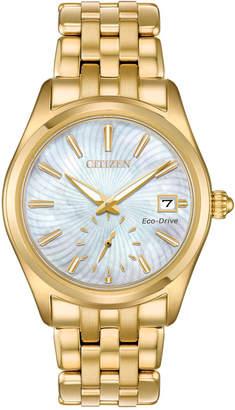 Citizen Women Eco-Drive Corso Gold-Tone Stainless Steel Bracelet Watch 36.2mm