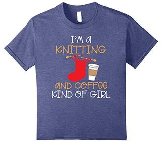 I'm A Knitting And Coffee Kind Of Girl Funny Knit Shirt